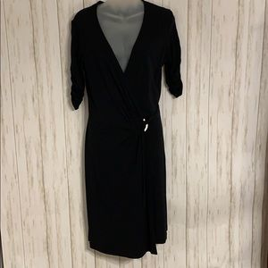 Size 8 Express Black Career Wrap Dress